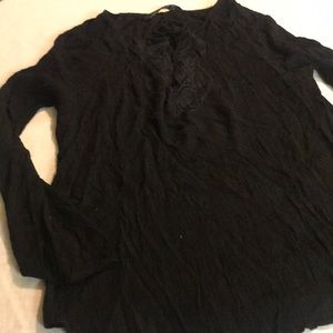 Zara woman black blouse new whit out tag